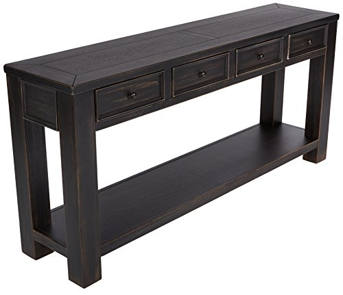 - Ashley Furniture Signature Design - Gavelston Sofa Table - Rectangular - Black