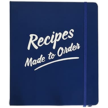 Kate Spade New York 173537 Order's Up Recipe Book, Navy