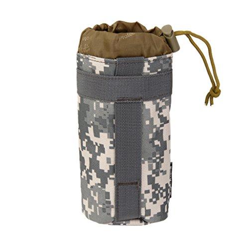Sac Poche de Bouteille d'Eau Porte Bouteille Système Molle Tactique pour Camping - ACU Camouflage