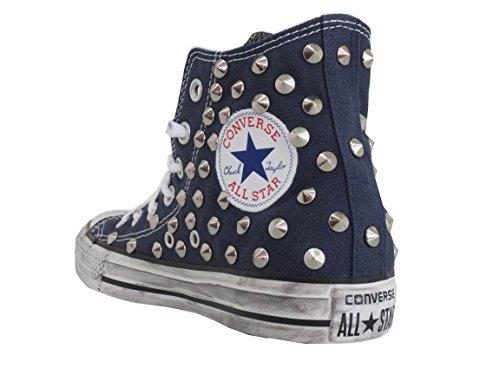 Converse all star Borchie borchiate blu navy ( prodotto artigianale )
