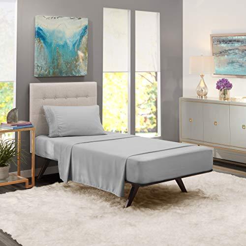 Nestl Bedding Soft Sheets Set - 3 Piece Bed Sheet Set, 3-Line Design Pillowcase - Easy Care, Wrinkle Free - 10