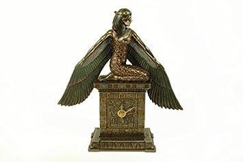"""Figura Decorativa con Reloj Sobremesa """" Isis"""" Esculturas Resina."""