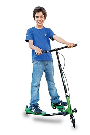 Patinete Verde con Base Doble: Amazon.es: Juguetes y juegos