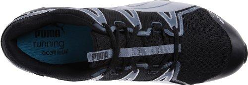 PUMA hombres Powertech Voltaic Running zapatos,negro/High Risk rojo/PUMA plata,10 M US - Black/Turbulence/Pum