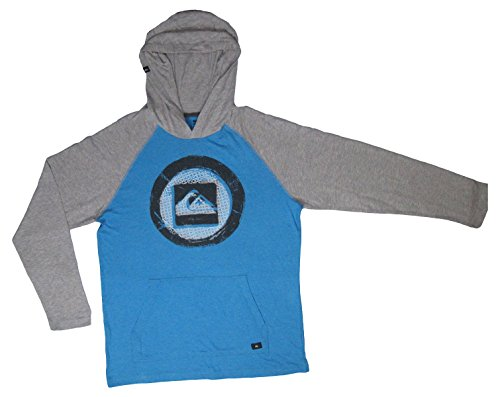 Quiksilver Boy's Thermal Long Sleeve Hoodie Pullover Sweater (Size Large, Color Hawaiian Ocean Heather) ()