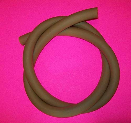 12 Feet 1/2 I.D x 1/8 W x 3/4'' O.D Natural Latex Amber Rubber Tubing Heavy Duty by Latex Tubing By Montree Shop