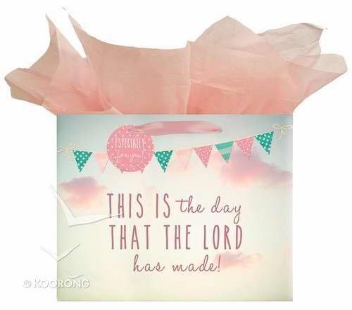 Christian Art Gifts 362017 Gift Bag - Life Is Beautiful & This Is The Day With Tag & Tissue - Landscape