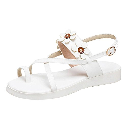 Slingback Femmes White Sandales TAOFFEN Chaussures TwqxAfO