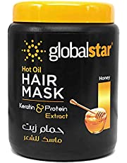 Global Star Honey Keratin and Protein Extract Hot Oil Hair Mask, 1 Litre