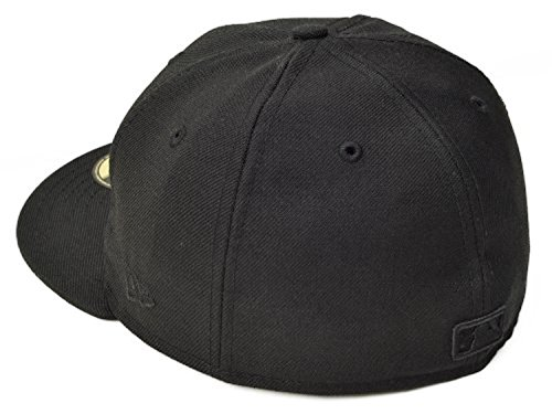 New Era MLB Boston Red Sox Black on Black 59FIFTY Fitted Cap, 7 (59fifty Boston Red Sox Fitted Hat)
