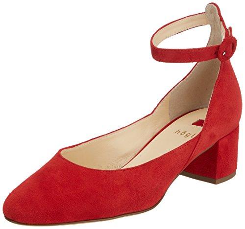 Rot Zapatos para Rojo Tacón de Högl 4012 10 Mujer 5 4000 wqxvwaHI