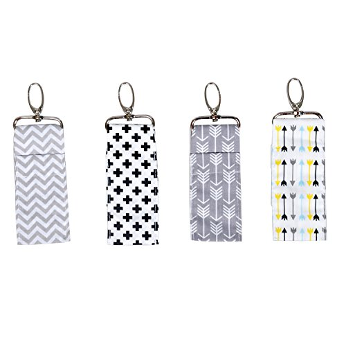Chapstick Key Chain Holder with Clip Lip Balm Holder,4 Pack Chapstick Holder