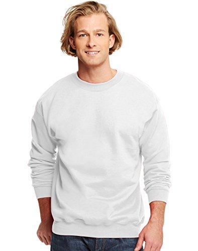 Hanes Mens Ultimate Cottonreg Heavyweight Crewneck Sweatshirt