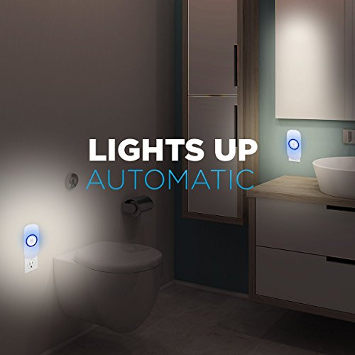 Motion Sensor Night Light, Plug in Motion Detector Led Nightlight Energy Saving Motion Activated Bright Safety Light for Kids and Adults Room, Bedroom, Bathroom, Hallway, Basement and Stairs 4-Pack by GOBULB (Image #1)