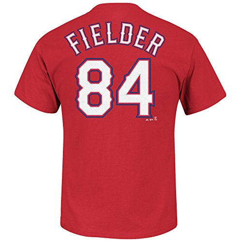 Prince Fielder #84 Texas Rangers MLB Men's Name & Number Player T-Shirt Red (Small) Texas Rangers Player