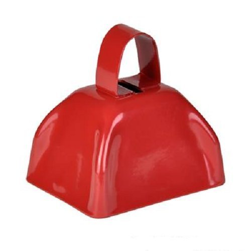 3'' Metal Cowbell (3 dozen) - Red by Rhode Island Novelty (Image #2)
