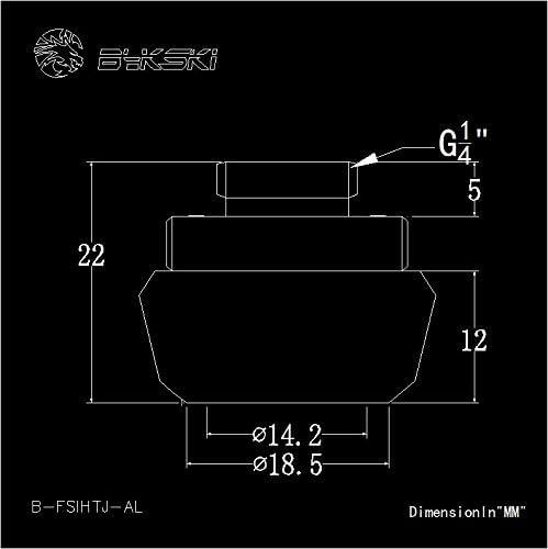 4 Pack Bykski Rigid 14mm OD Fitting Gears Style Silver