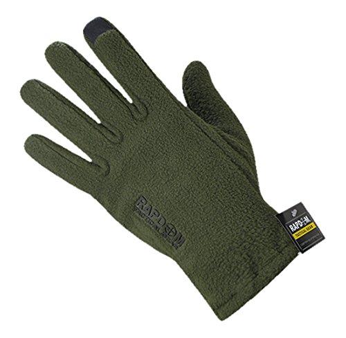 RAPDOM Tactical Polar Fleece Gloves, Olive Drab, Large by RAPDOM