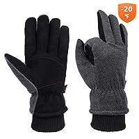 Winter Cold Weather Gloves Waterproof Genuine Deerskin Leather Cold Resistance -20?