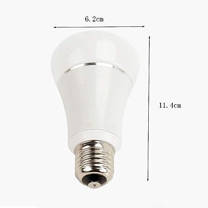 Bombillas Inteligentes Led, 6w E27 RGB Energy Light Bulb, Que se Aplica a Las