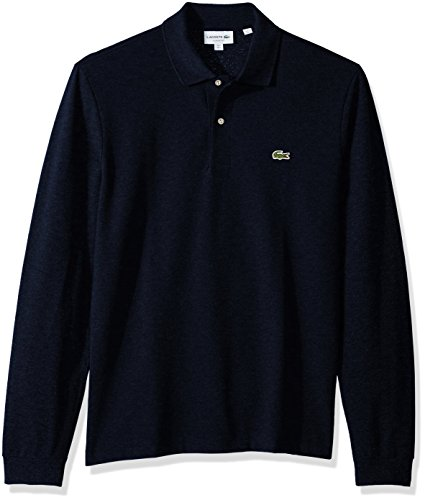 - Lacoste Men's Long Sleeve Pique Classic Fit Chine Polo Shirt, Eclipse Blue, XS