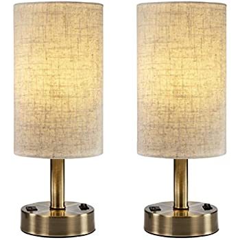 Bedside Night Lamp Set Of 2 Table Lamp For Bedroom