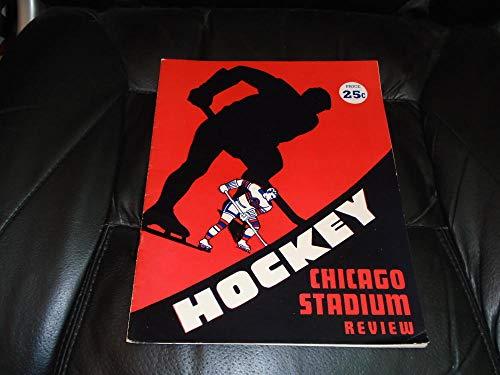 1951 1952 MONTREAL CANADIENS AT CHICAGO BLACK HAWKS NHL HOCKEY PROGRAM ()