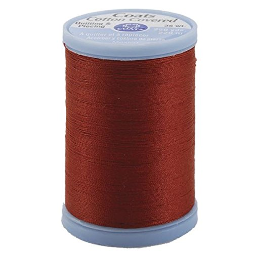 Coats: Thread & Zippers Cotton Covered Quilting and Piecing Thread, 250-Yard, Rust Coats Thread & Zippers S925-7820 027786