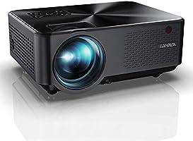 Vidéoprojecteur, YABER Mini Projecteur Portable 5500 Lumens Résolution Native 1280*720p, Retroprojecteur avec...