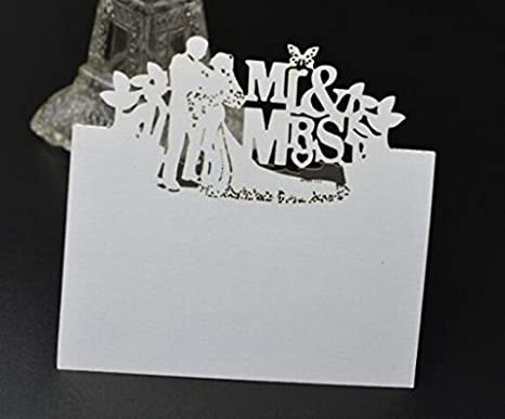 Laser-Cut // Place Card // Name Card // Table Seating Card for Weddings style 1 Musuntas Love Heart Name Cards Pack of 50 Banquets or Parties