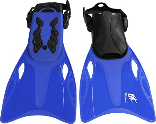 Dive Fins - Small Size - Adjustable Strap for Custom Fitting - For Snorkeling and Diving - By Utopia Fitness
