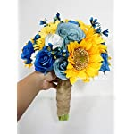 Sweet-Home-Deco-Silk-Sunflower-Rose-Babysbreath-Wedding-Bouquet-Bridal-Bouquet-Bridesmaid-Bouquet-Boutonnere-in-YellowBlue-YellowBlue-11w-Bouquet