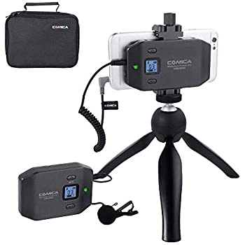 comica cvm ws50 a wireless smart phone lavalier microphone system with uhf 6. Black Bedroom Furniture Sets. Home Design Ideas