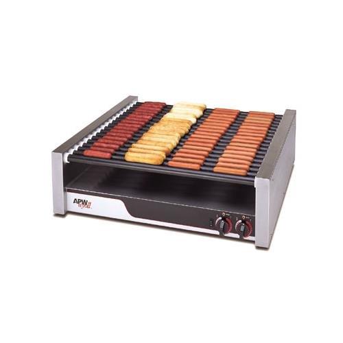 APW Wyott Tru Turn Surface Flat HotRod Hot Dog Roller Grill - 18 Roller, 8 1/2 x 34 3/4 x 29 9/16 inch -- 1 each.