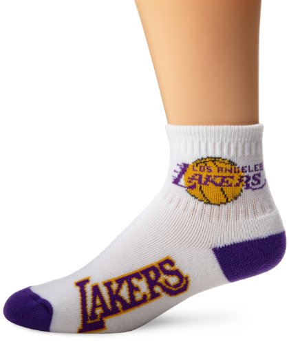 NBA Los Angeles Lakers Men's Quarter Socks, Large, White (La Lakers Socks)