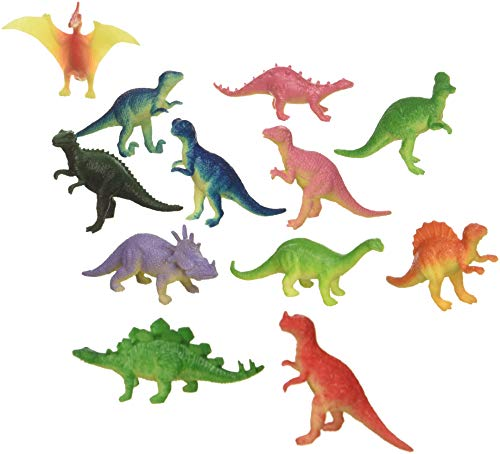 12 Mini Dinosaur Figures Hard Plastic- 2