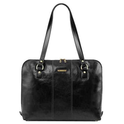 Donna Ravenna Borsa Leather Nero Per Business Esclusiva Tuscany PZYWqq