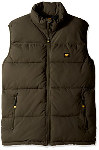 Caterpillar Men's Big Arctic Zone Vest (Regular and Big & Tall Sizes), Army Moss, 2X Large Tall (Quilted Diamond Nylon Vest)