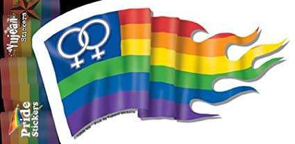 NSI Rainbow Female LGBT Gay Pride Flag - Sticker / Decal - UV In/Out Weather Protected, Extra Long Lasting