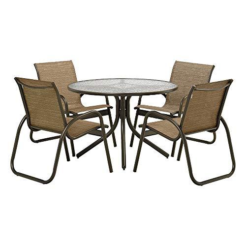 (Telescope Casual SET01001 Gardenella, Bronze, Bark Outdoor Sling Dining Set)