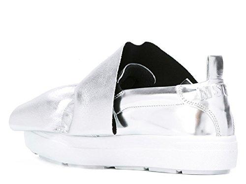 Cuir Femme MSGM Argent Skate 2241MDS05X013 De Chaussures qAvvtPdw