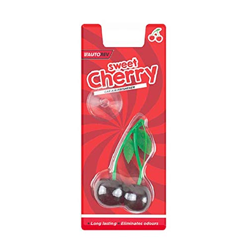 The Home Fusion Company 2 x Sweet Cherry Perfume Gel Car Air Fresheners 3D Hanging Eliminates - Air 3d Freshener