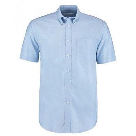 KUSTOM KIT Mens Workwear Oxford Short Sleeve Shirt