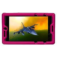 Bobj Rugged Case for NVIDIA Shield Tablet K1 - BobjGear Custom Fit - Patented Venting - Sound Amplification - BobjBounces Kid Friendly (Rockin' Raspberry)