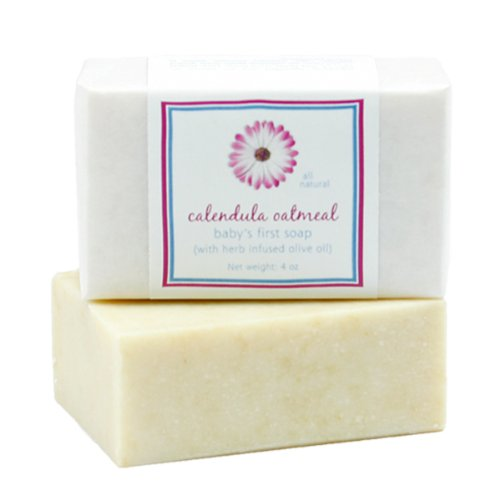 Baby Calendula Oatmeal Soap by MoonDance Soaps – Handmade Soap with Cocoa Butter and Shea Butter