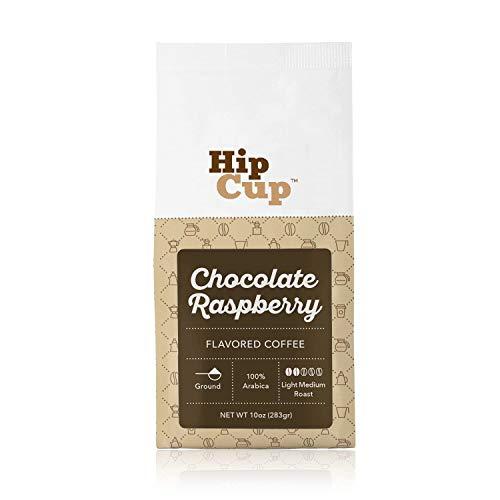 HipCup Chocolate Raspberry Flavored Coffee, Ground, 10 oz. ()