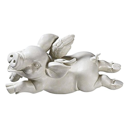 Design Toscano If Pigs Had Wings Sculpture: Set of Three
