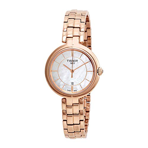 Tissot Flamingo White Mother of Pearl Dial Ladies Watch T094.210.33.111.01