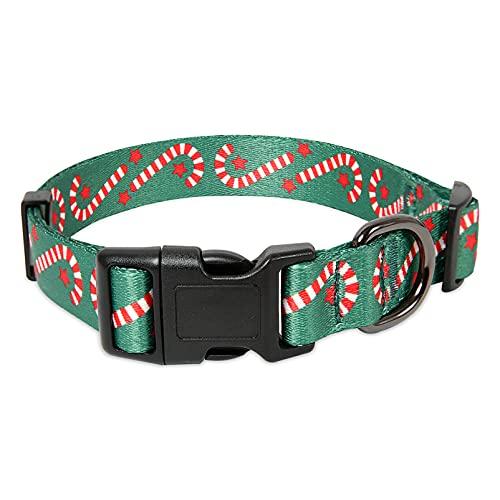 collar para perro ajustable broche metal navidad talle s
