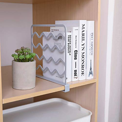 Kitchen 4PC Closet Organizer and Durable Shelf Divider and Separator for Organization and Storage for Home HmJay 4PC Shelf Dividers for Closets Clothing Appliances Books